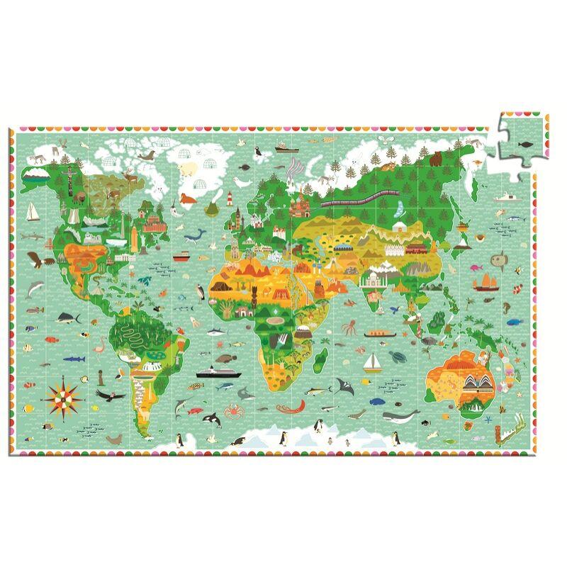 Lenyűgöző világ - Djeco 200 db-os puzzle 6 éves kortól