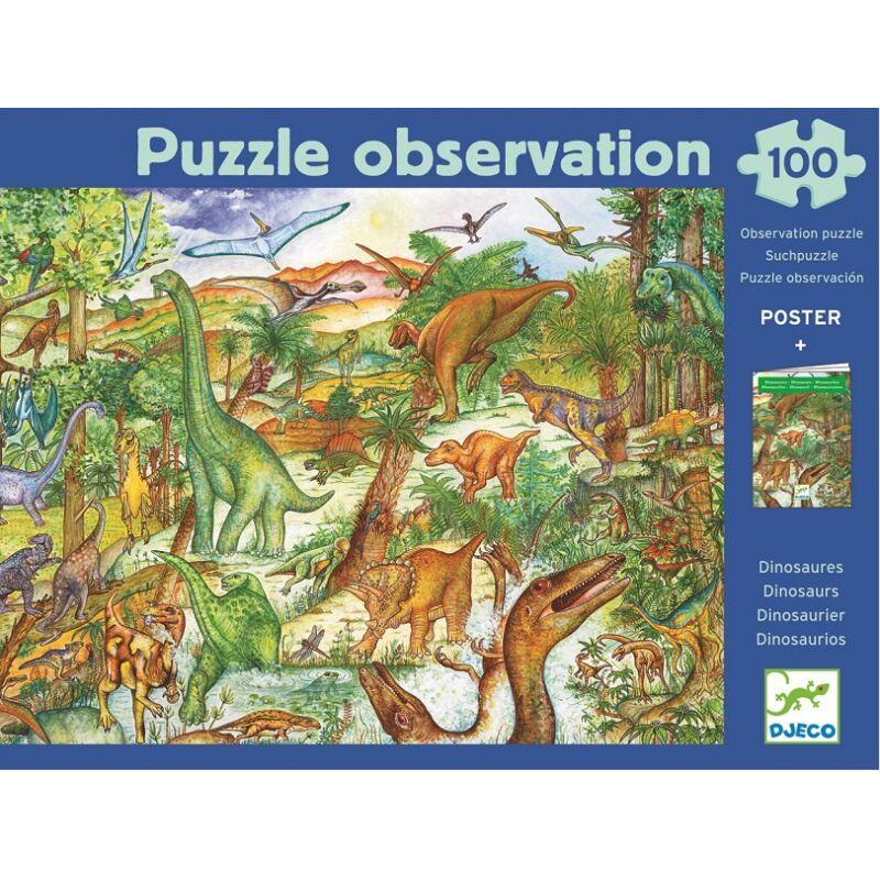 Dinoszauruszok - 100 db-os puzzle, Djeco