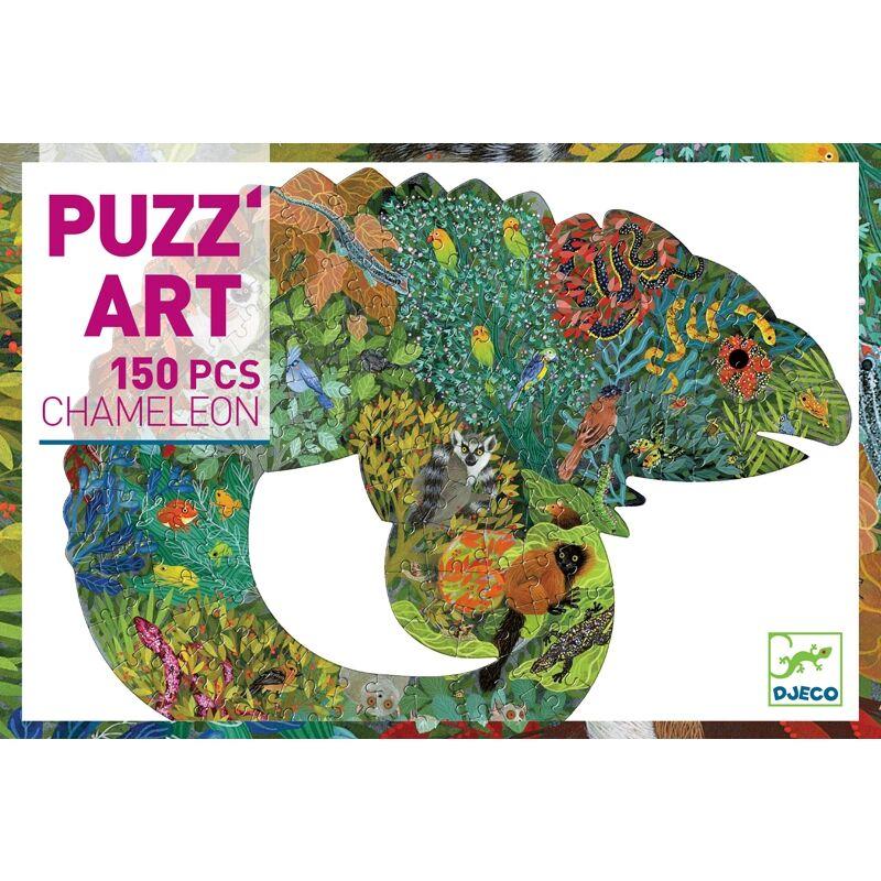 Művész puzzle - Kaméleon - Djeco művész puzzle 6 éves kortól