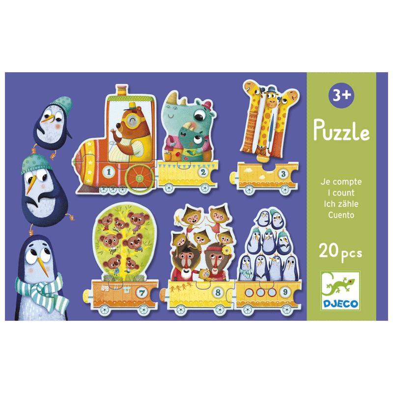 Párosító puzzle - Számoló - Djeco puzzle 3-6 éves korig