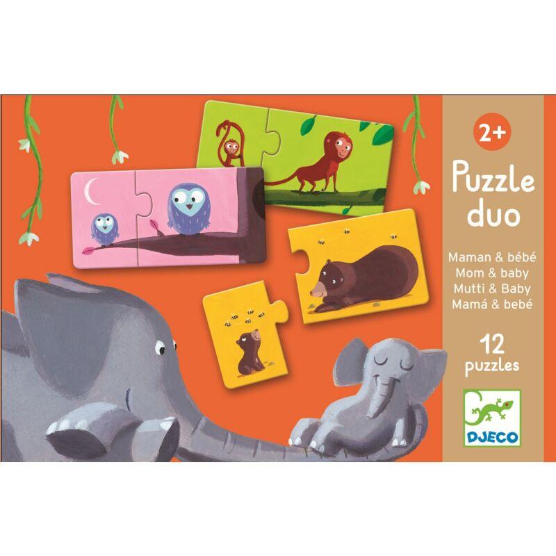 Anya és bébije- Djeco 24 db-os puzzle 2-4 éves korig