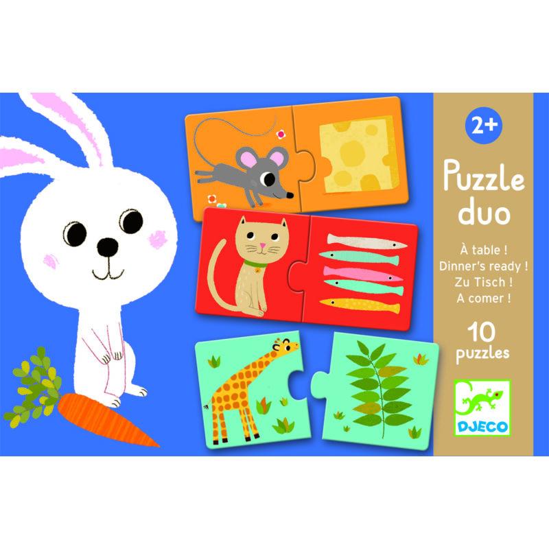 Ki mit szeret? - Párosító puzzle - Djeco puzzle 2-4 éves korig