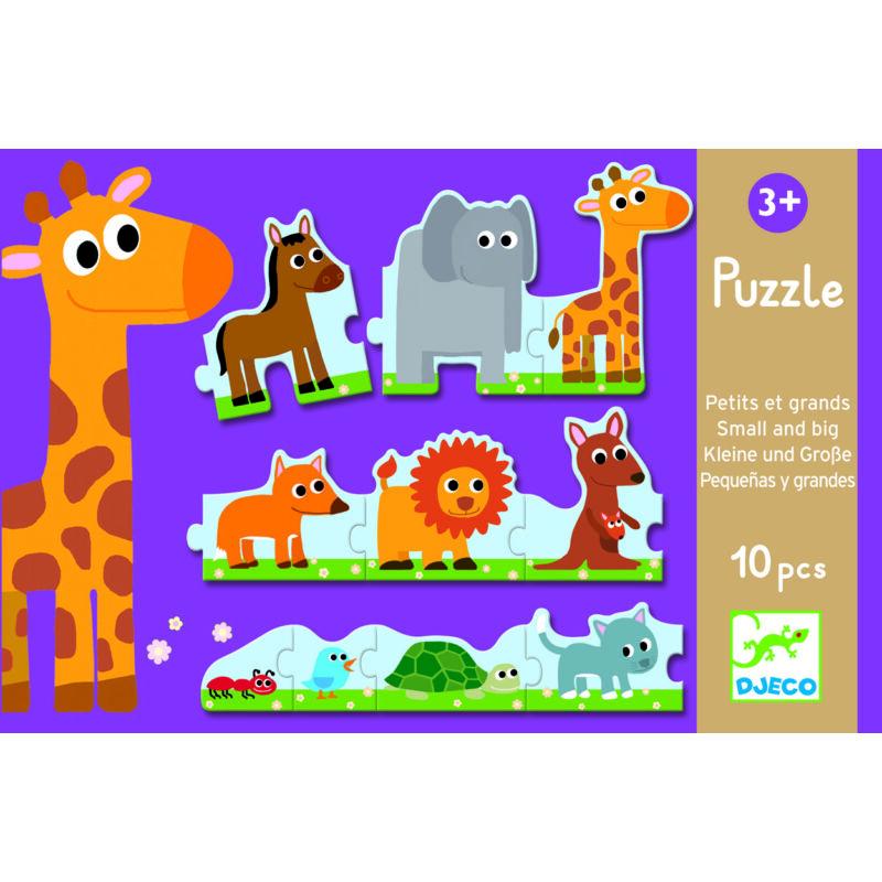 Kicsi és nagy - puzzle, Djeco puzzle kicsiknek