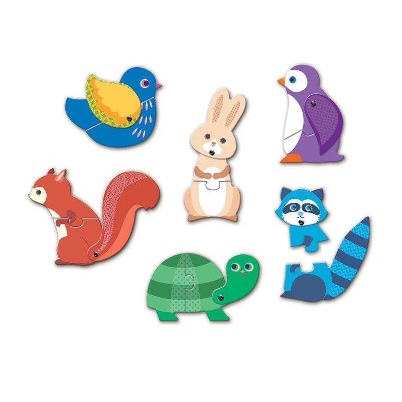 Párosító puzzle - Állatok- Djeco fejlesztő játék 2-4 éves korig
