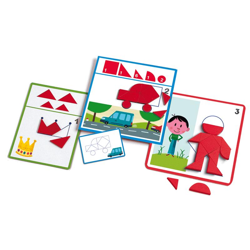 Alakzatok és formák, Djeco fejlesztő játék 3-6 éves korig