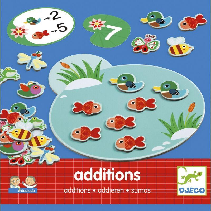 Összeadás - Eduludo Additions - Djeco fejlesztő játék 4-8 éves korig