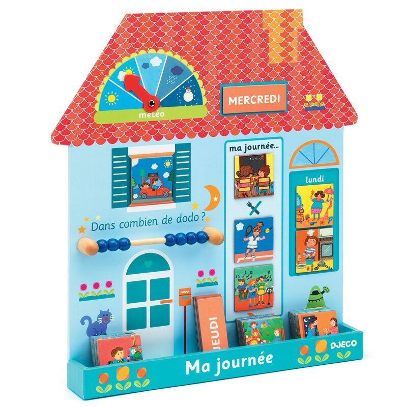 A napom - Eduludo ma journée - (francia nyelvű), Djeco fejlesztőjáték 4 éves kortól