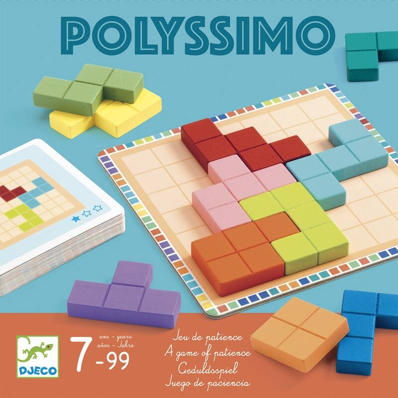 Logikai játék - Tetris négyzetkirakó - Djeco logikai játék 7 éves kortól