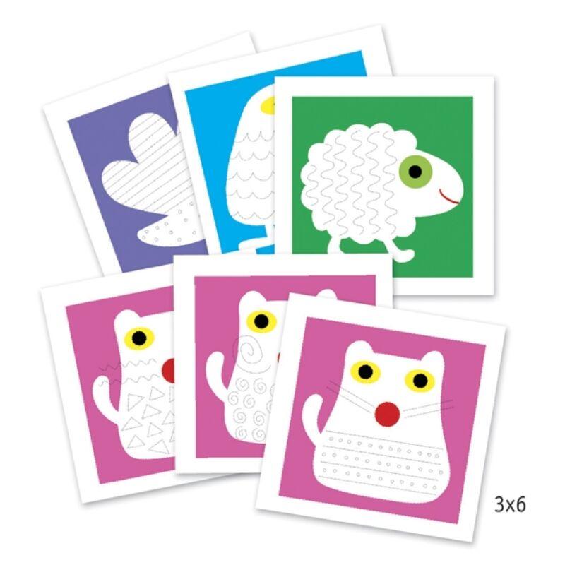 Rajzműhely - Állatok- Djeco kreatív készlet 3-6 éves korig
