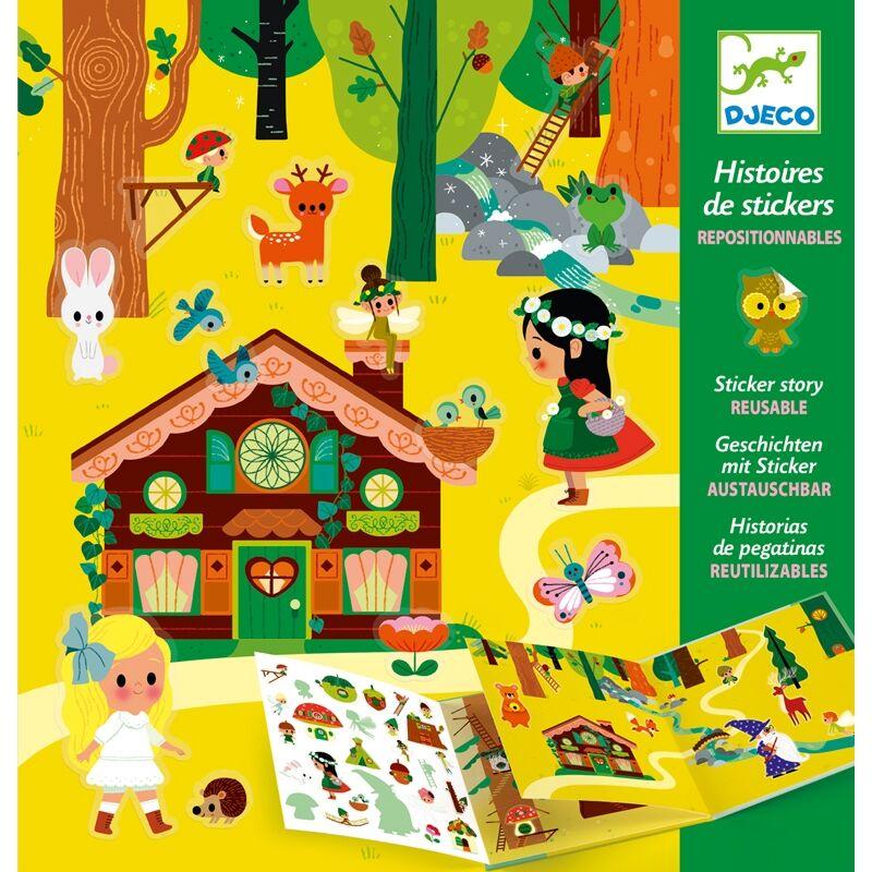 Matricás meseszövés - A varázslatos erdő - Djeco kreatív készlet 4-8 éves korig