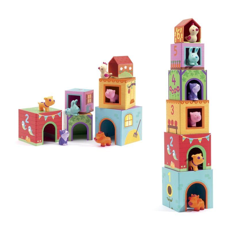 Toronyépítő - Tipp-topp, Djeco bébi építőjáték