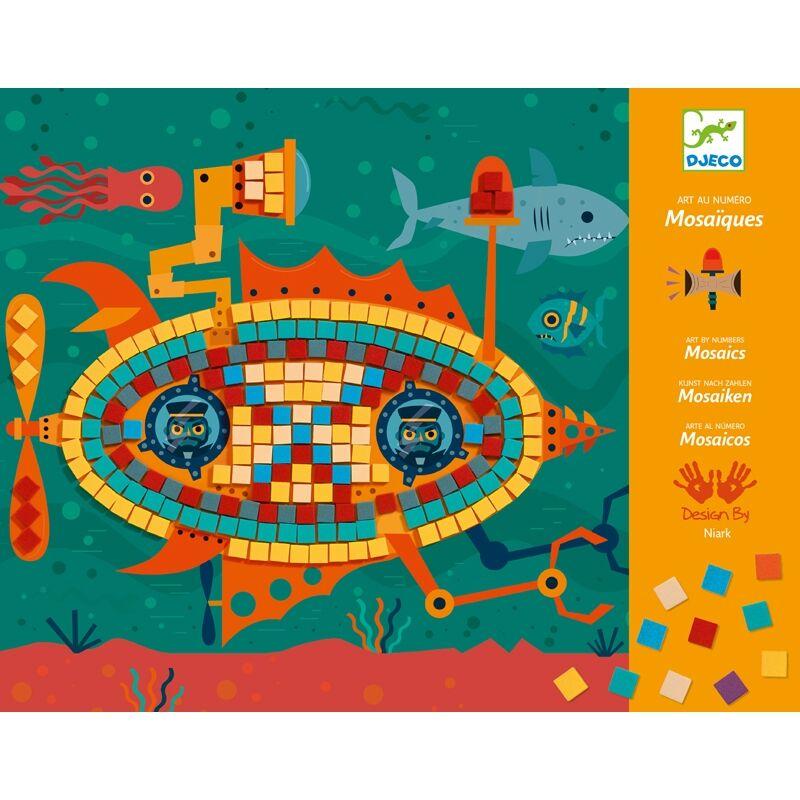 Művészeti műhely - Menő járművek mozaik készlet - Djeco kreatív készlet 6 éves kortól