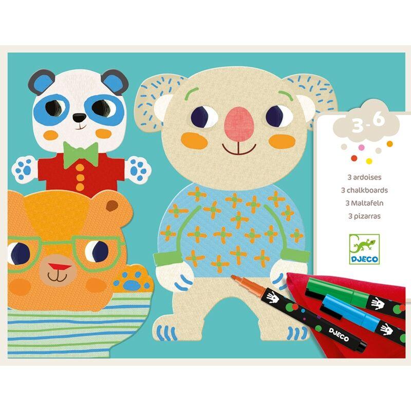 Színező készlet - Csinoskák - Cutiesm Djeco kreatív készlet, 3-6 év