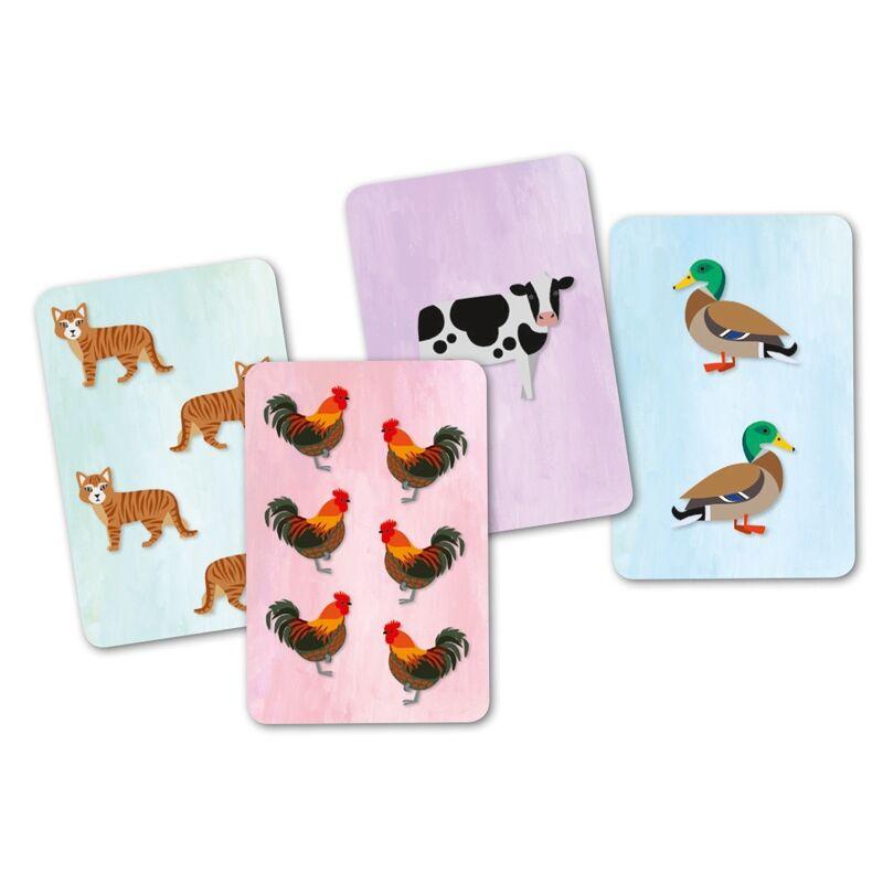 Kártyajáték - Állati hangos, Djeco kártyajáték 6-99 éves korig