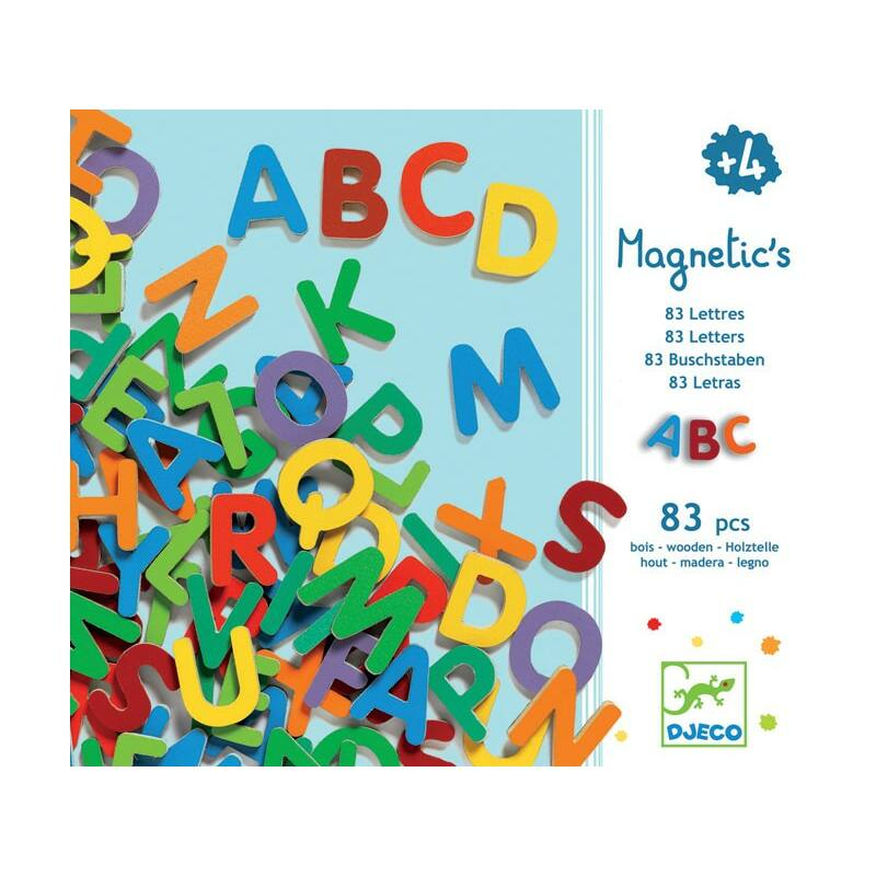 83 db mágneses betű, Djeco írás
