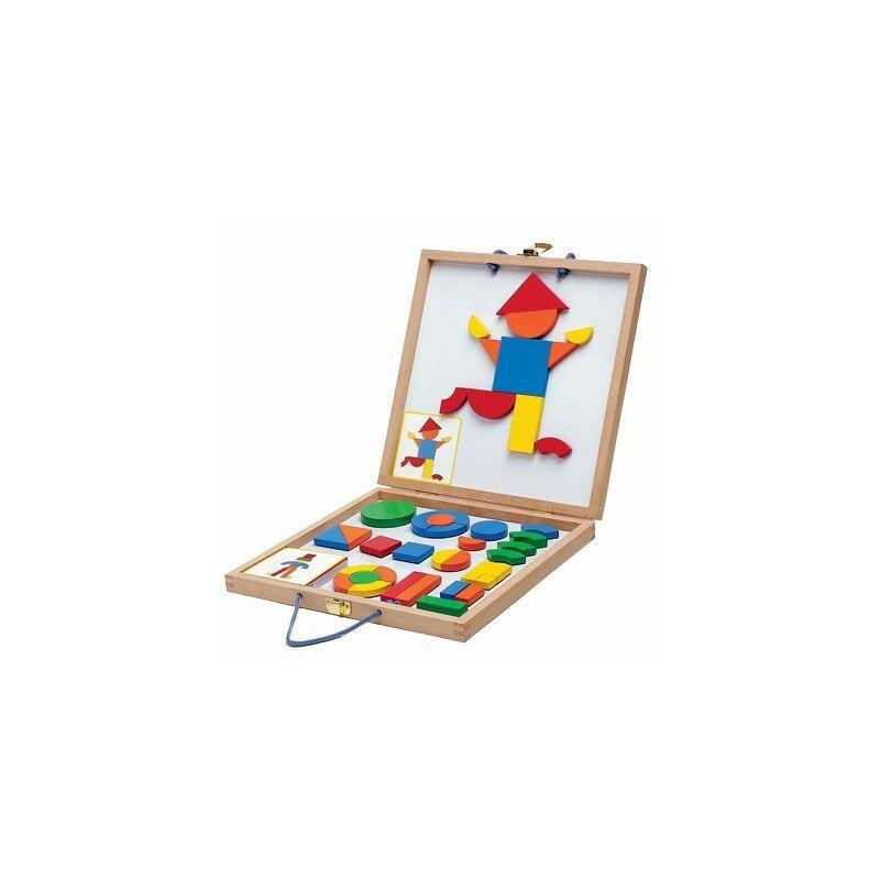 Mágneses geometriai kirakó - Djeco fejlesztő játék 4-8 éves korig