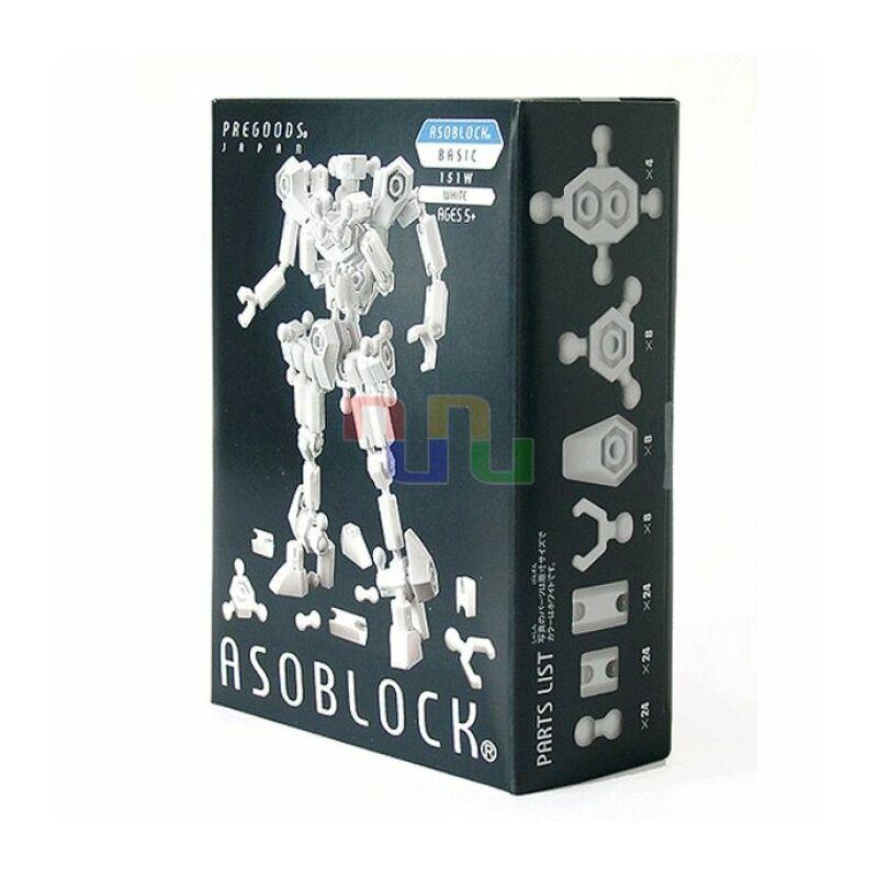 Robotépítő Alapkészlet 151W - 100 elem _Asoblock, Építőjáték 5 éves kortól