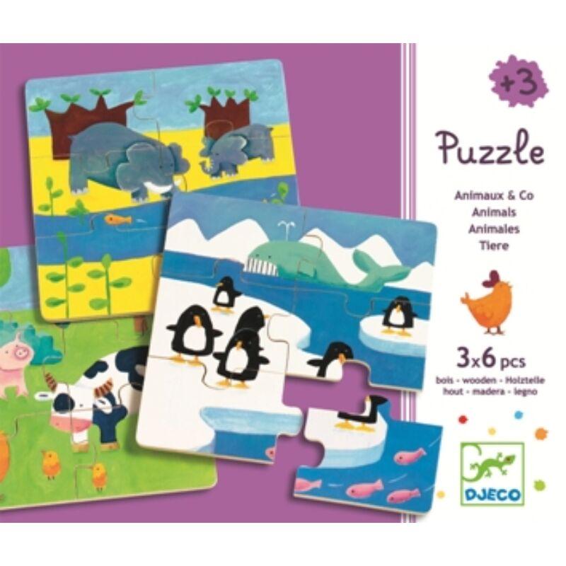 Állatok az élőhelyükön, Djeco puzzle óvodásoknak
