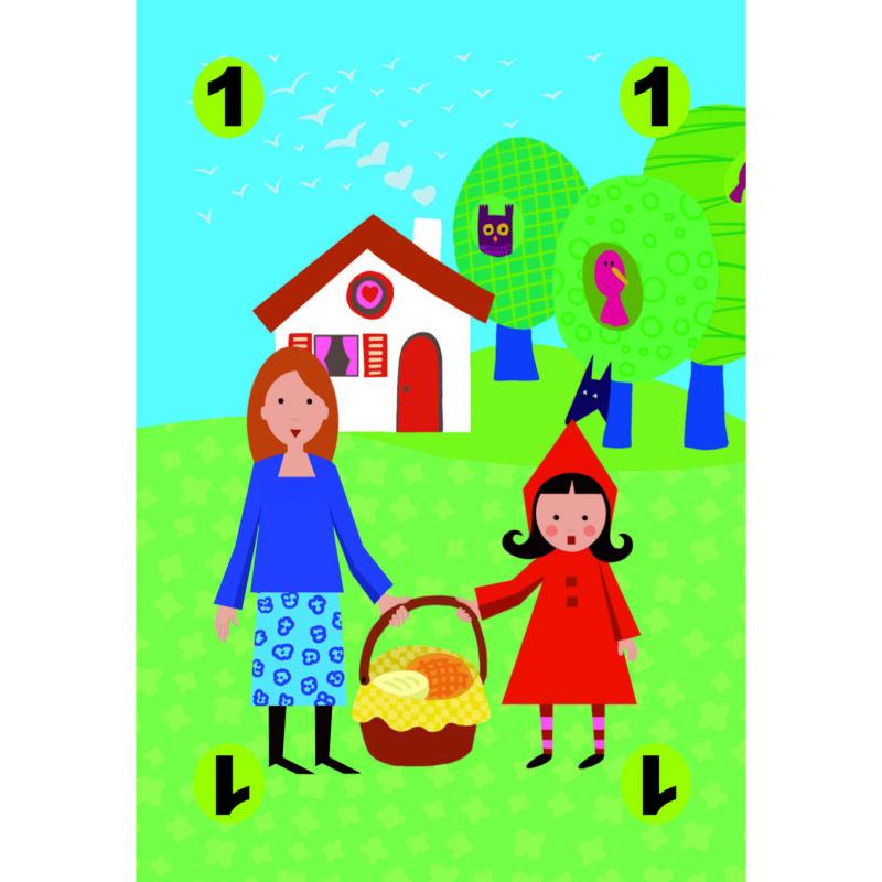 Piroska és a farkas- Djeco kártyajáték 4-7 éves korig