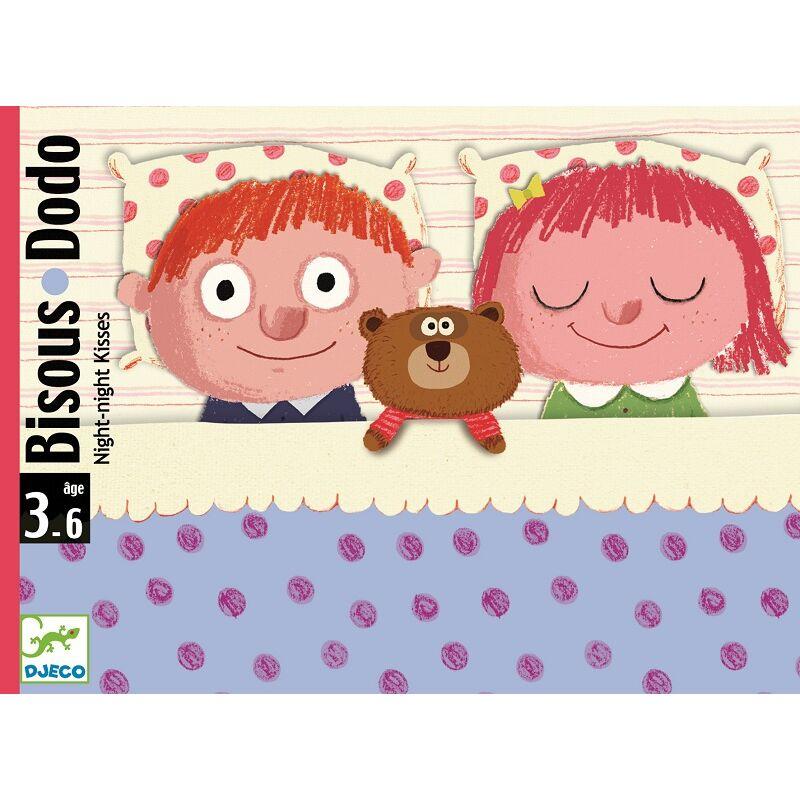 Bisous Dodo - Jó éjt puszi - kártyajáték, Djeco kártyajáték 3 éves kortól