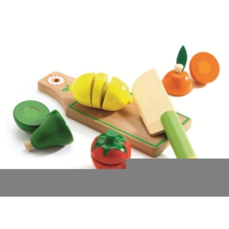 Szeletelhető gyümölcsök - Fruits & vegetables to cut - Djeco szerepjáték 3-6 éves korig