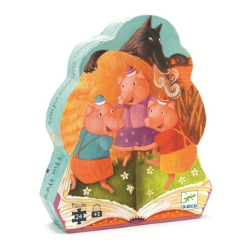 A három kismalac_ 24 db-os óriás puzzle, formadobozos Djeco