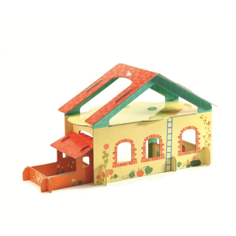 Djeco  Farm kartonból 3D,  4-8 éves korig