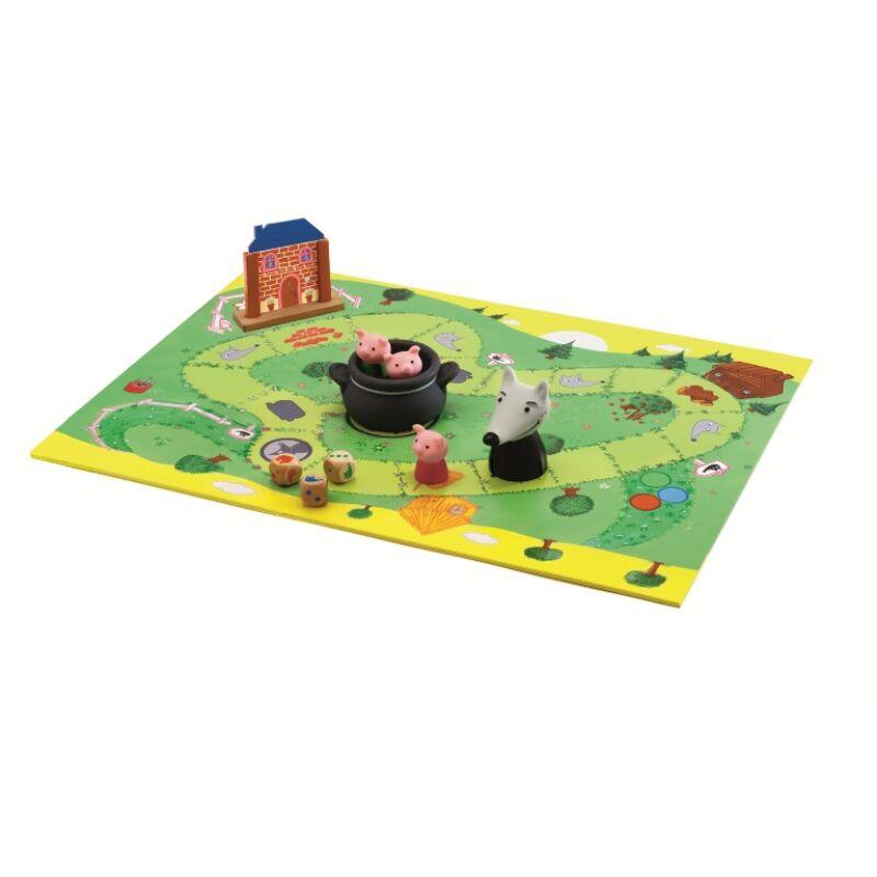 A három kismalac - kooperatív társasjáték, Djeco társasjáték 4 éves kortól
