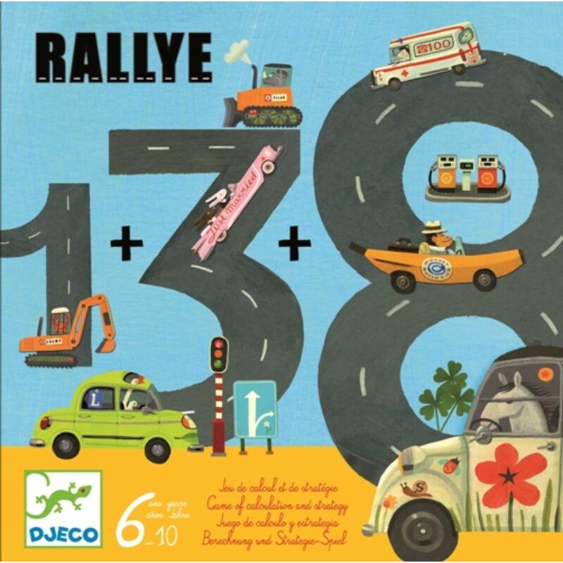 Rallye - Djeco kártya- és társasjáték számok gyakorlására, 6-10 éves korig
