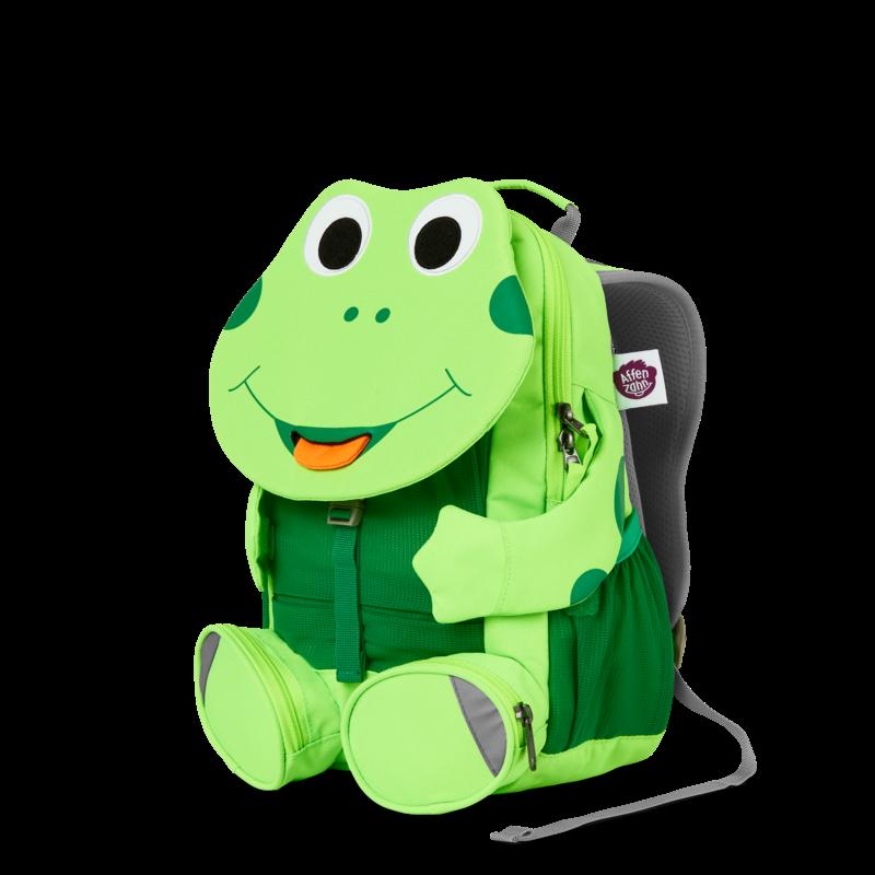 Béka Affenzahn hátizsák óvodásoknak, neon zöld színben