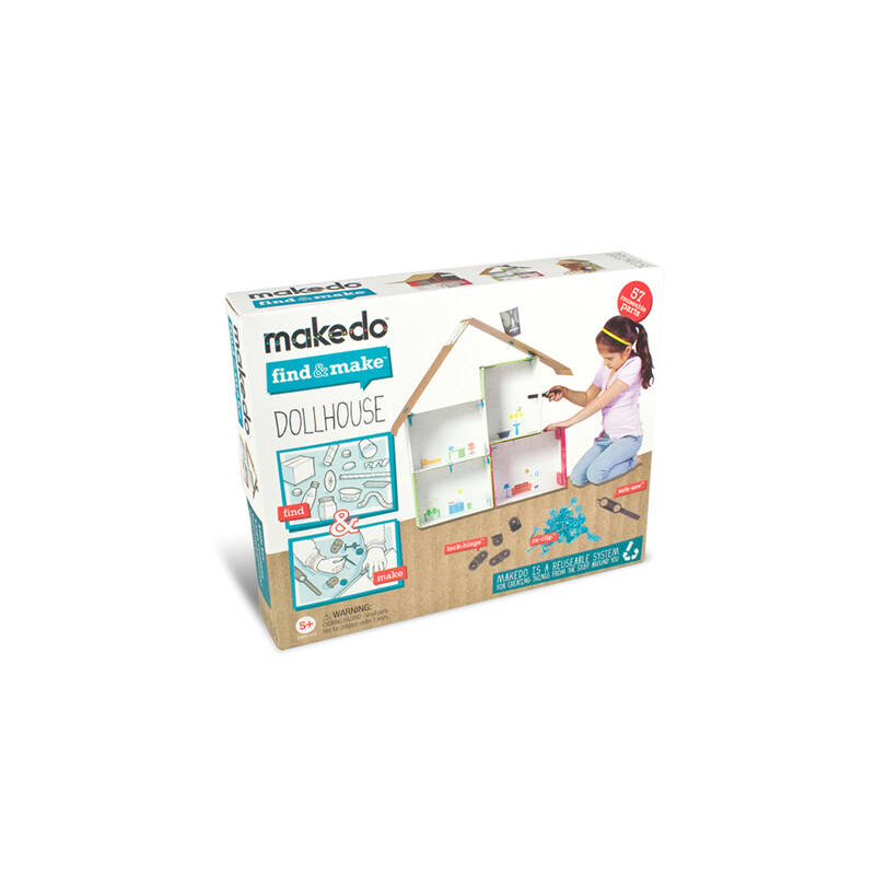 Makedo - Babaházépítő - Kreatív készlet 5 éves kortól