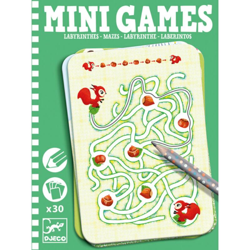 Mini játékok- Labirintusok - Djeco fejlesztő játékok 6 éves kortól