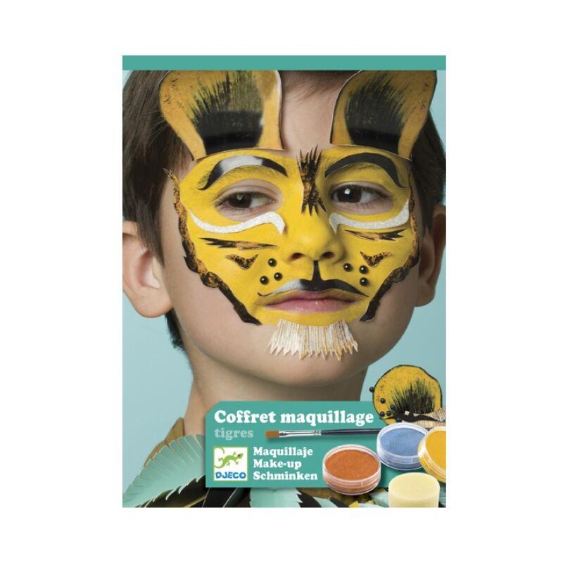 Arcfestés, díszítés - Állatmaszkok - Tigris és barátai, Djeco kreatív készlet 3 éves kortól