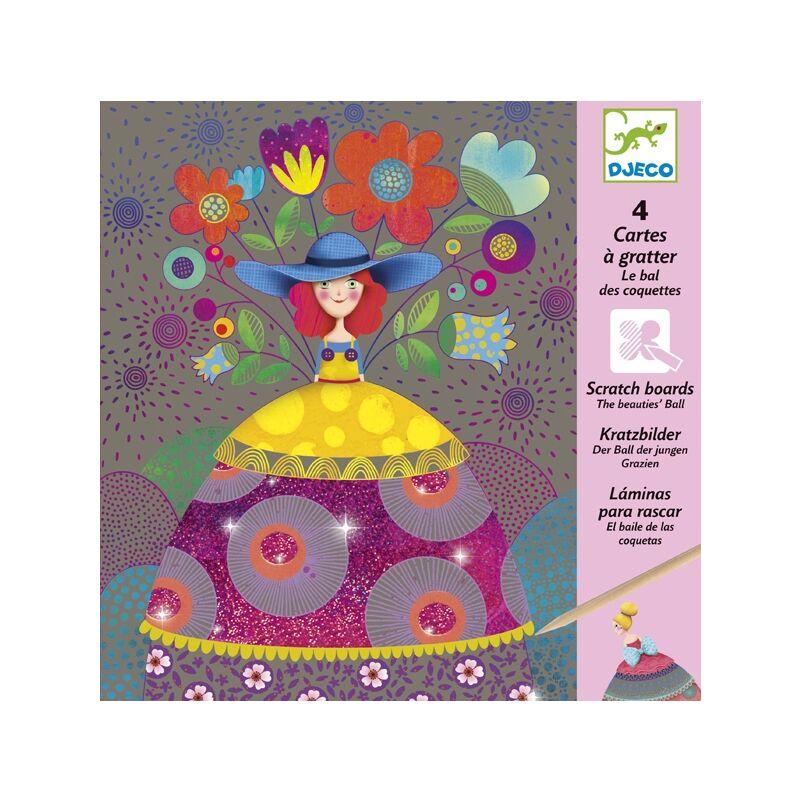 Karctechnika - Szépséges ruhák - Djeco kreatív készlet 7 éves kortól