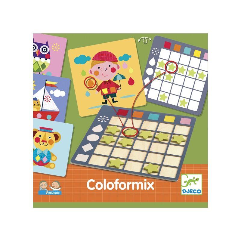 Fejlesztő játék - Eduludo Coloformix, Djeco fejlesztő játék 4-6 éves korig