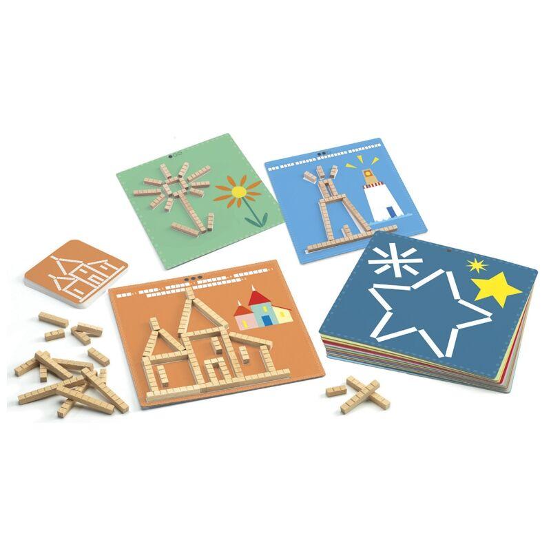 Fejlesztő játék - Hosszúság - Eduludo sticks - Djeco fejlesztőjáték 5-10 éves korig