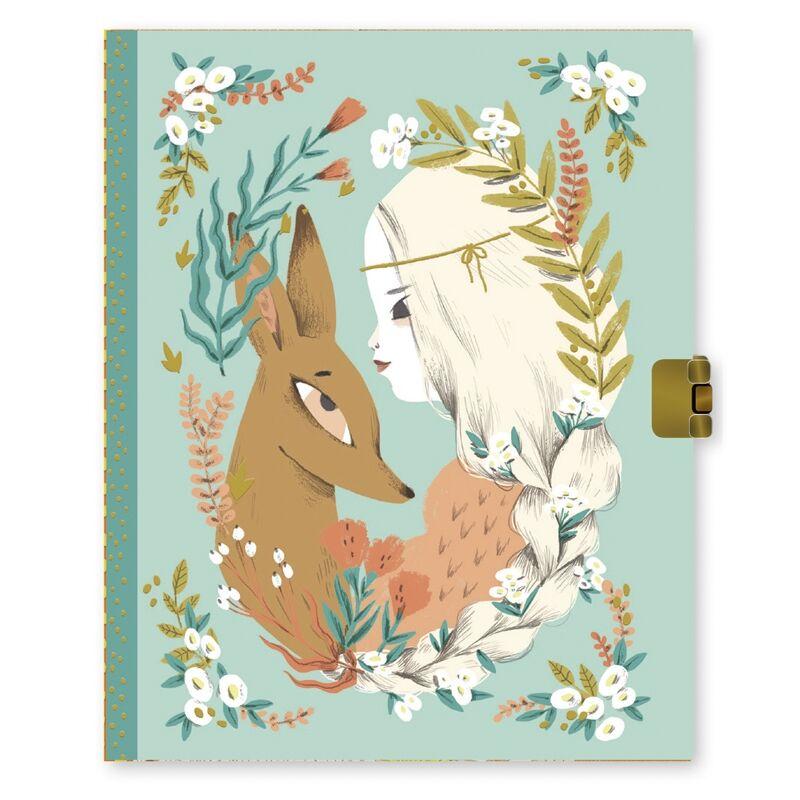 Titkos napló, lakattal - Lucille, Djeco kreatív játék lányoknak