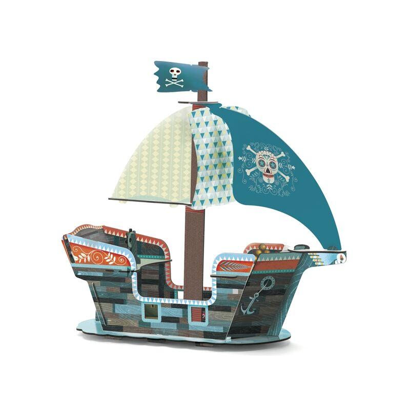Kalózhajó -  Djeco 3D-s építőjáték 4 éves kortól