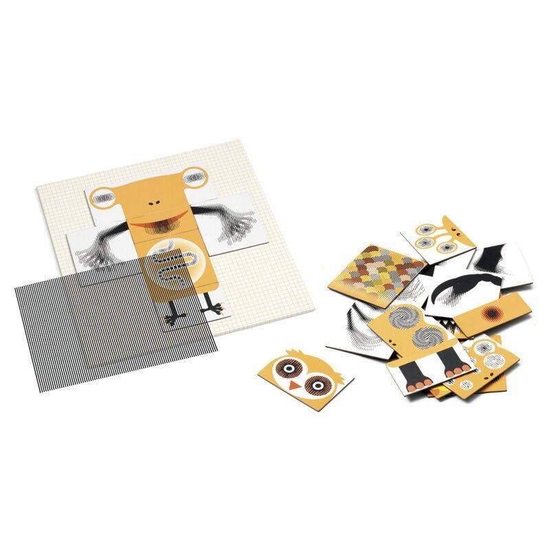 Optikai puzzle - Kinoptik Animonster - 26 db-os, Djeco puzzle 5-8 éves korig