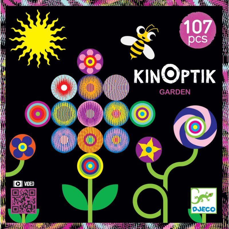 Optikai puzzle - Kert - Kinoptik Garden - Djeco 107 db-os puzzle 5-8 éves korig