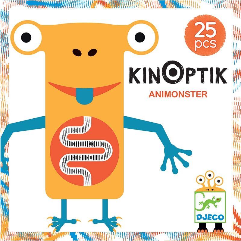 Optikai puzzle - Kinoptik Animonster - 26 db-os, Djeco puzzle