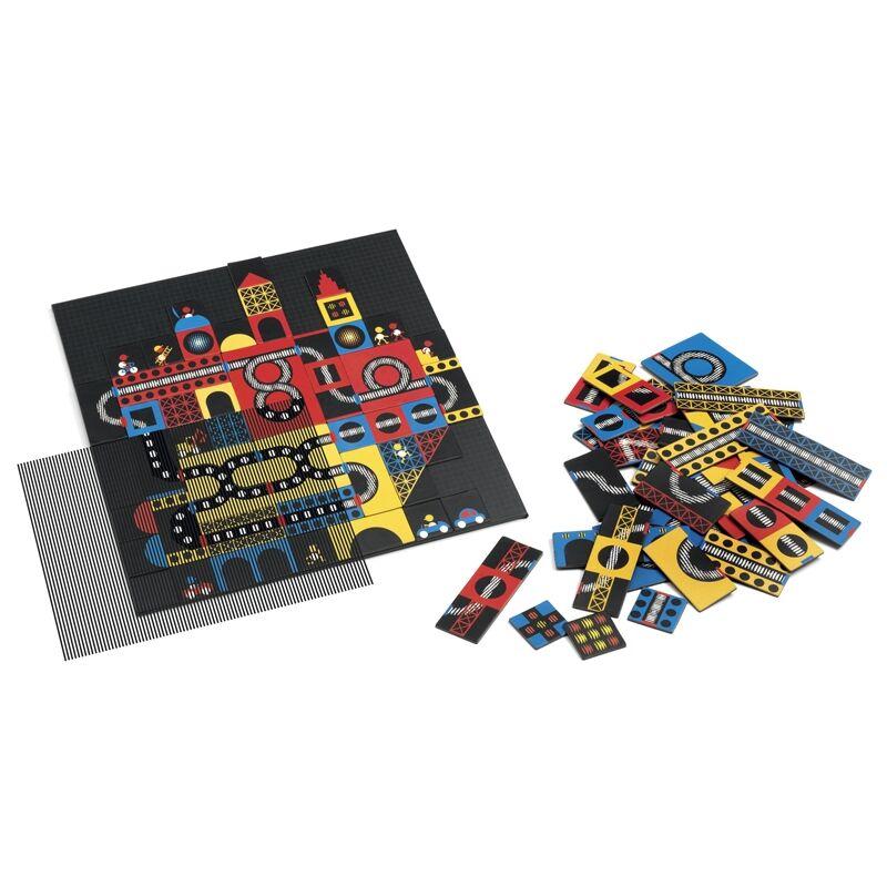 Optikai puzzle - Város - Kinoptik Ville - Djeco puzzle 123 darabos, 6 éves kortól