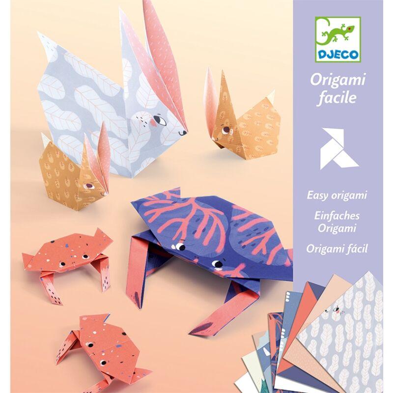 Origami: Az állatcsalád - Djeco kreatív készlet 6 éves kortól