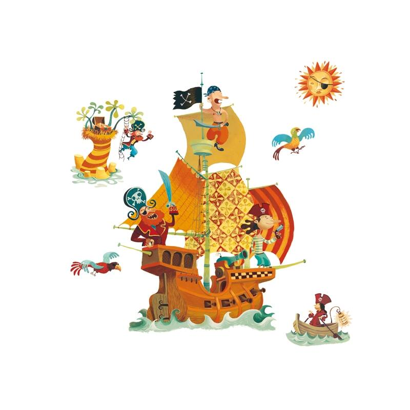 Falmatrica - Kalózhajó- Djeco dekoráció 0-12 éves korig