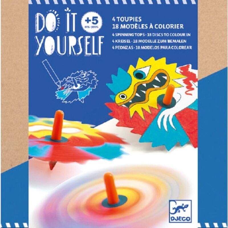 Csináld magad! - Színkeverő pörgettyű - Dragons, Djeco kreatív készlet 5 éves kortól