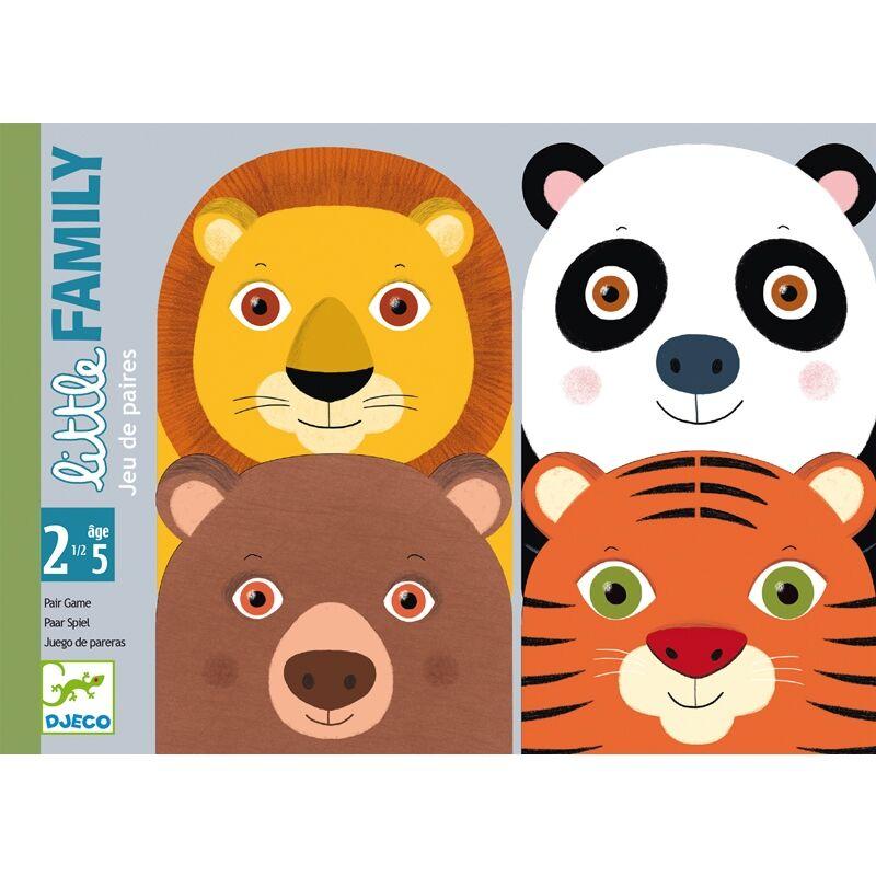 Pártaláló - Kis család - Djeco kártyajáték 2,5 - 5 éves korig