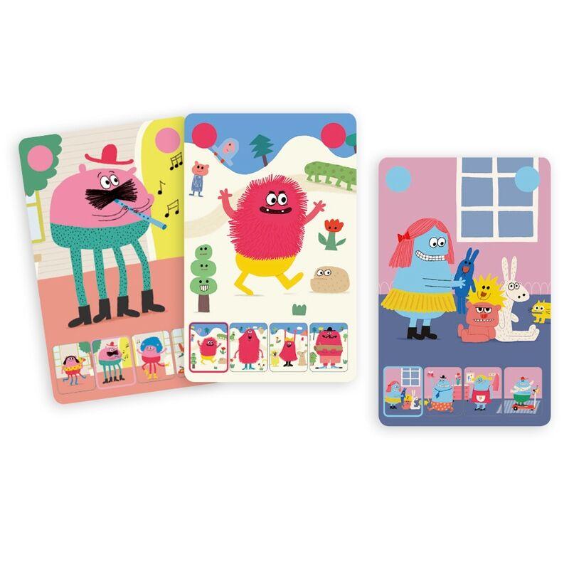 Szörnyikék - Djeco Kártyajáték  4-7 éves korig