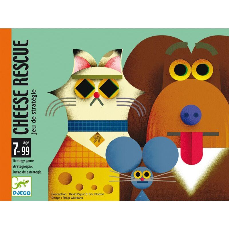 Kártyajáték - Sajtmentő, Djeco társasjáték 7-99 éves korig