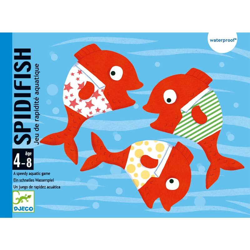 Fürdőkád játék - Vízikártya, Djeco kártyajáték 4-8 éves korig