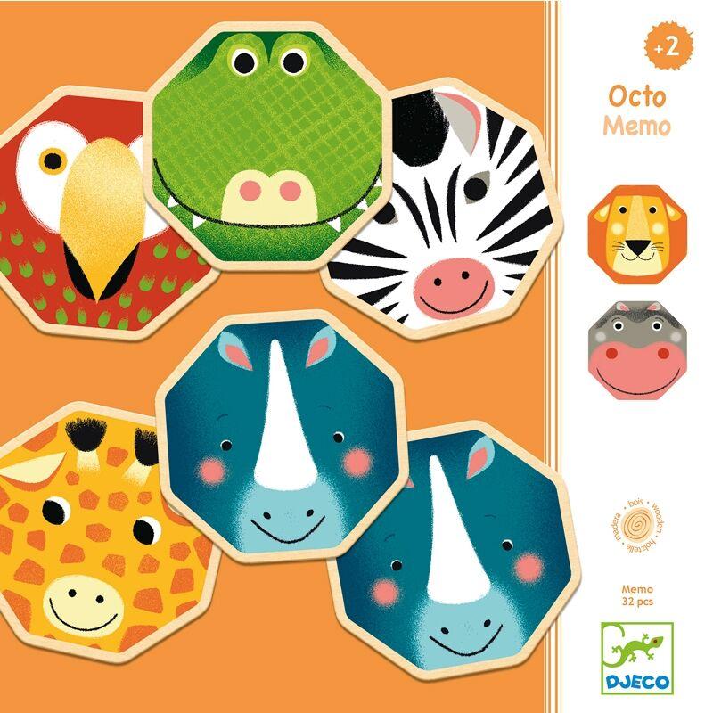 Memória játék - Oktaédi, Djeco fejlesztőjáték 2-4 éves korig